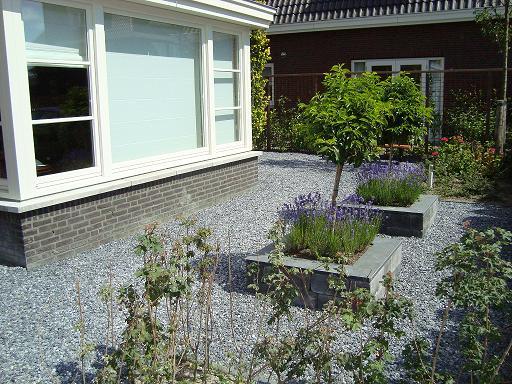 Tuin Met Grind : Aanleg van tuin met grind rob s tuinen